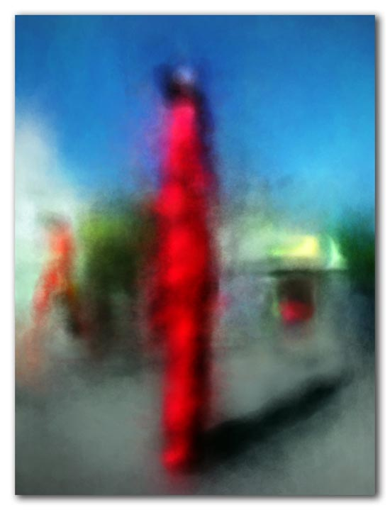 abstract red mocko jumbie
