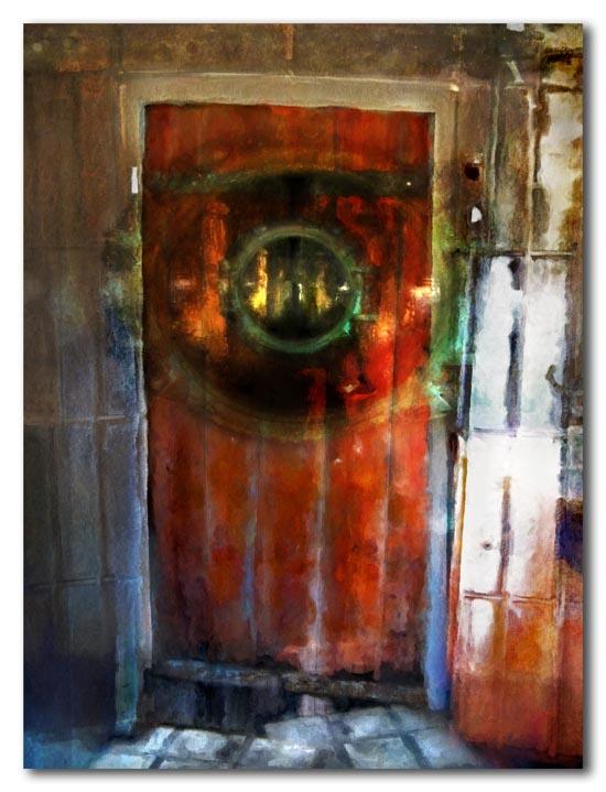 Door with round window