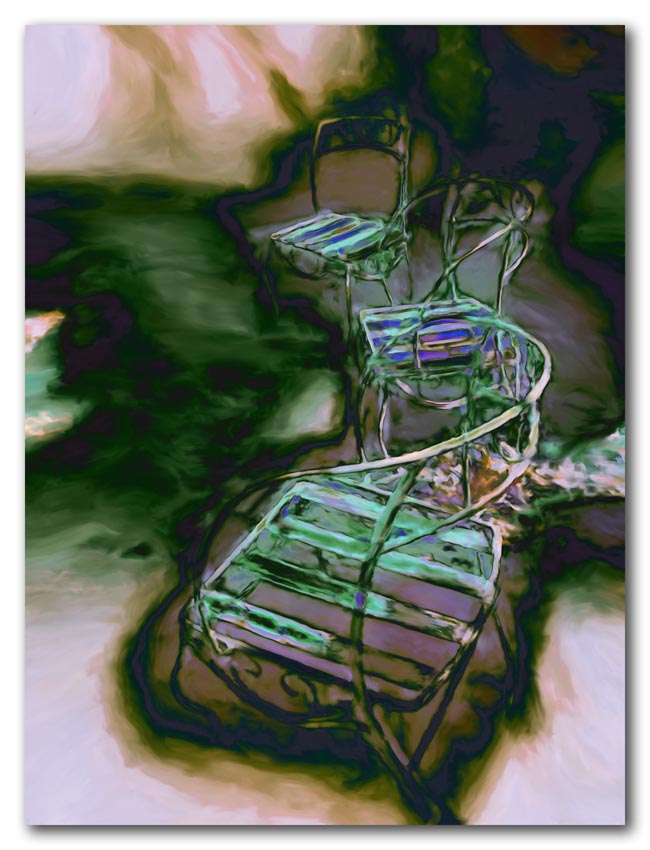 Three Chairs in the Garden
