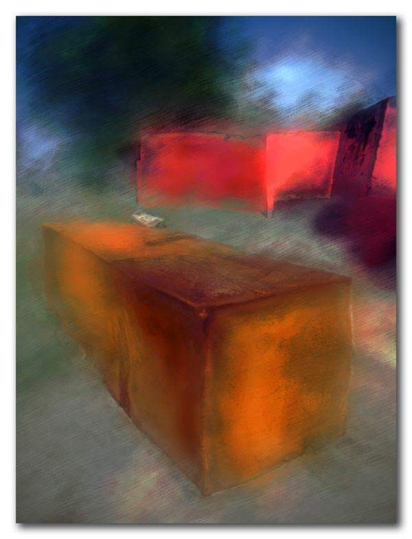 Rusty Tank on the Shore