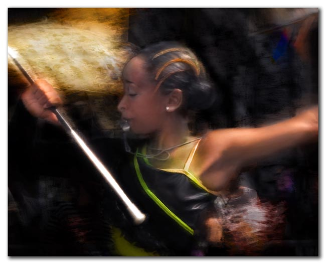 Majorette with whistle