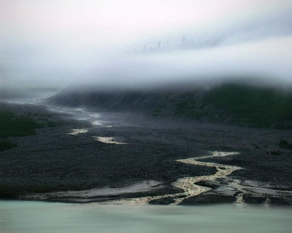 Meltwater into Glacier Bay Alaska
