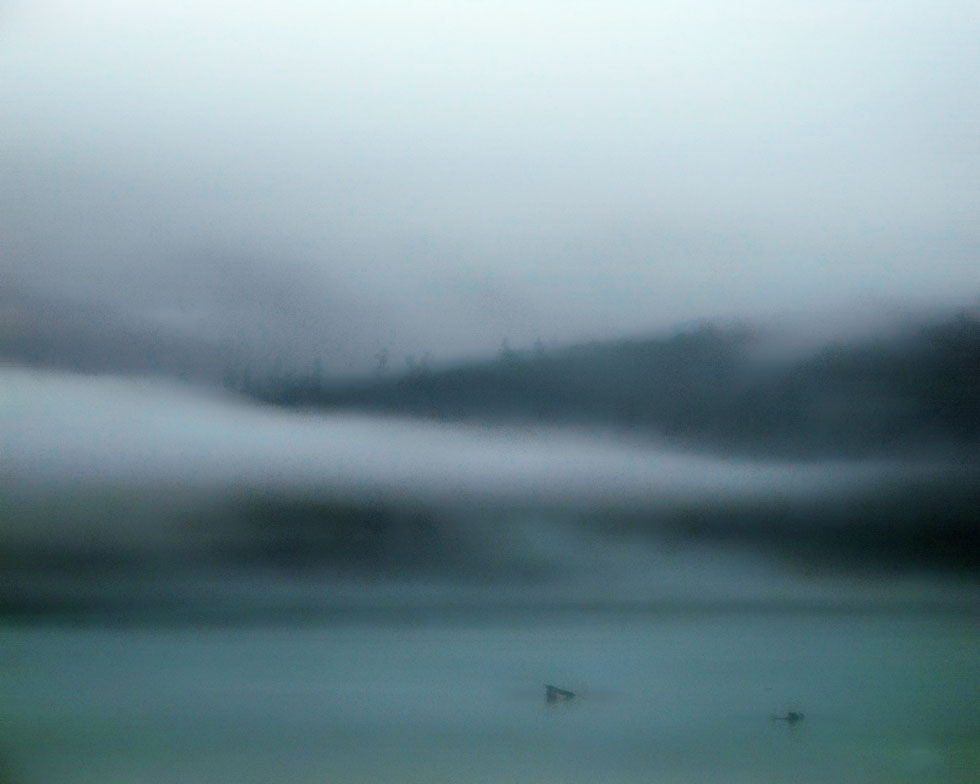 Fog over Glacier Bay Alaska