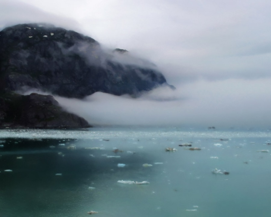 The Fog Returns to Glacier Bay Alaska