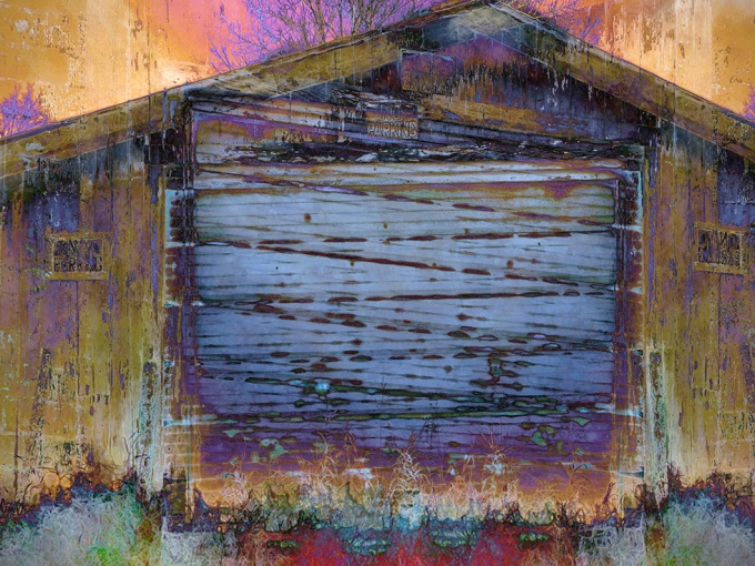 Shed Wall with Door
