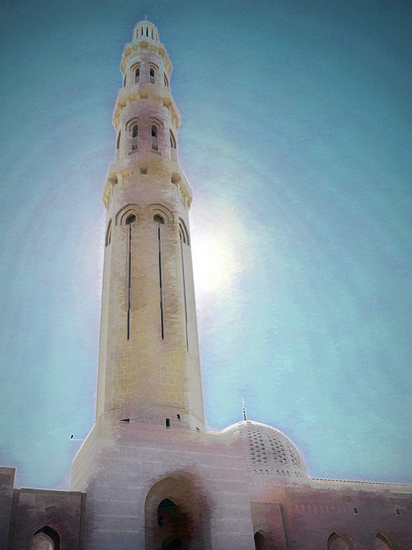 Tower at Sultan Qaboos Grand Mosque, Muscat, Oman